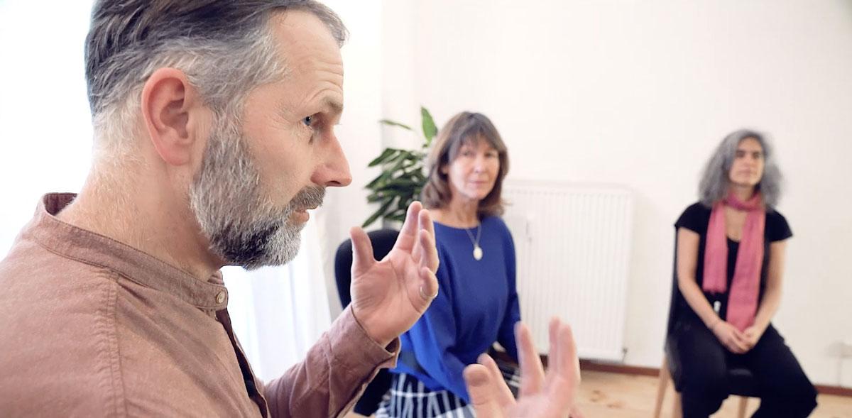 Seminar / Augenkurs - Ulrich Christen und zwei Teilnehmerinnen